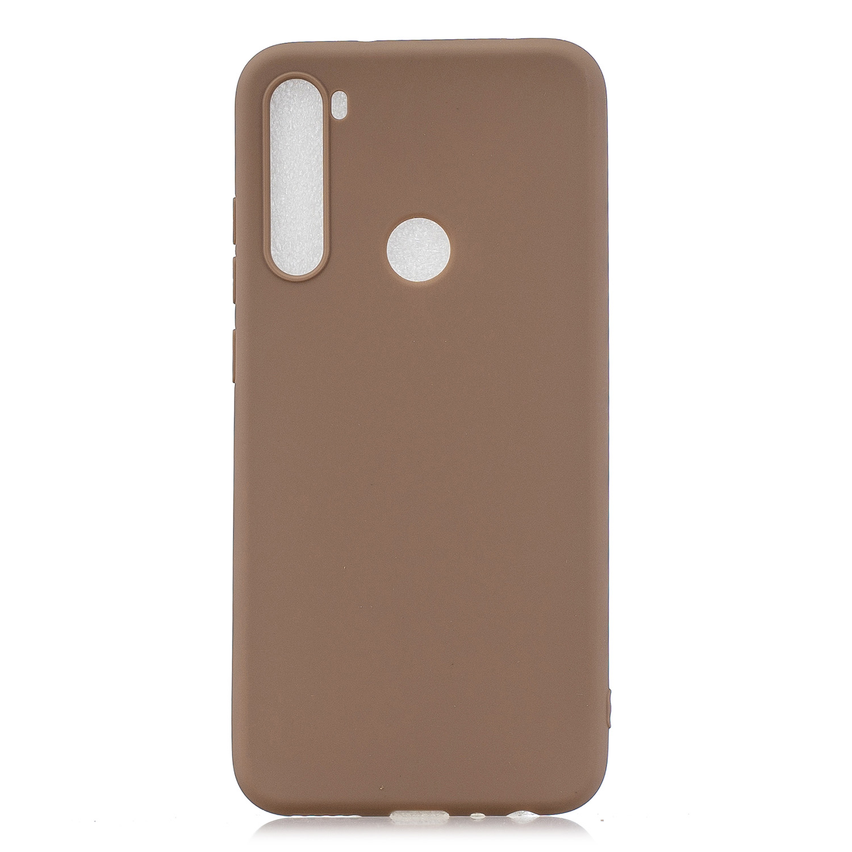 For Samsung A01/ A11/A21/A41/A51/A71/A81/A91 Mobile Phone Case Lovely Candy Color Matte TPU Anti-scratch Non-slip Protective Cover Back Case 9 brown