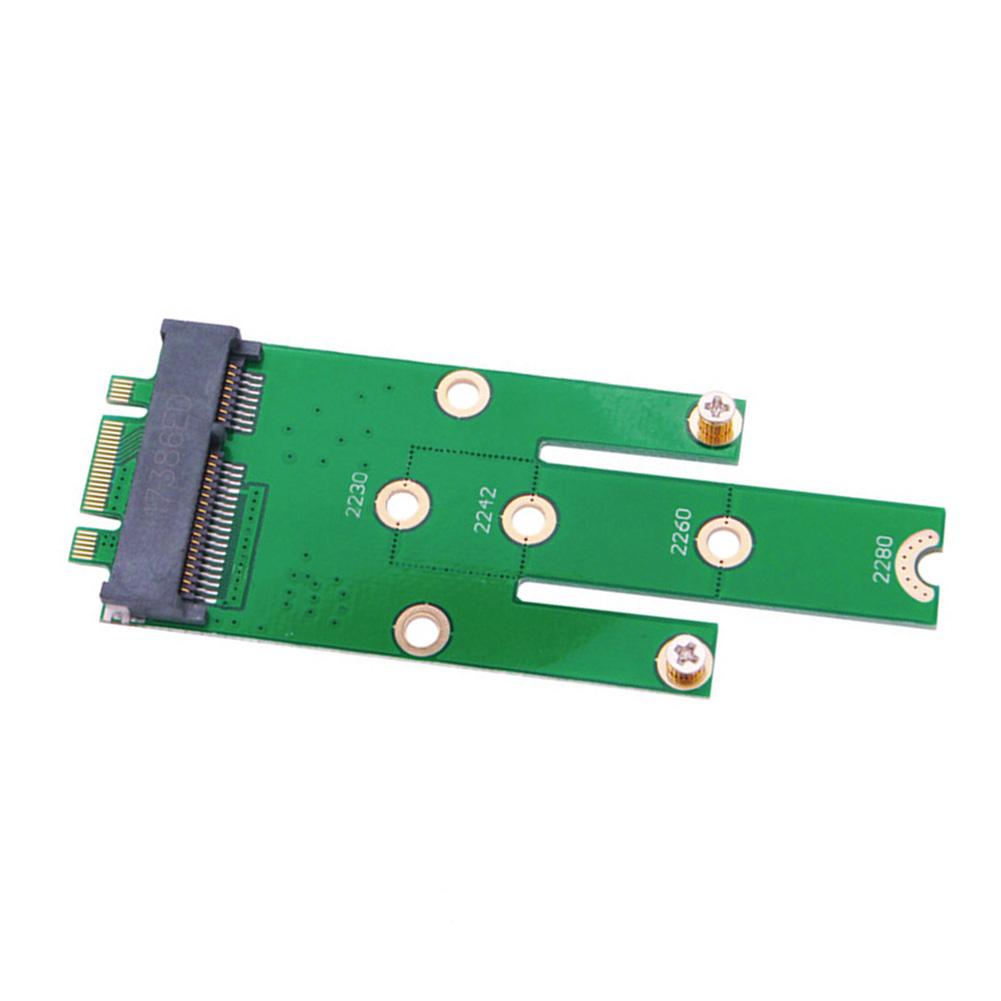 MSATA Mini Expansion Desktop Add On Converter SSD 2242 2230 2260 Adapter Card M.2 B Connector Boards PCI-e green