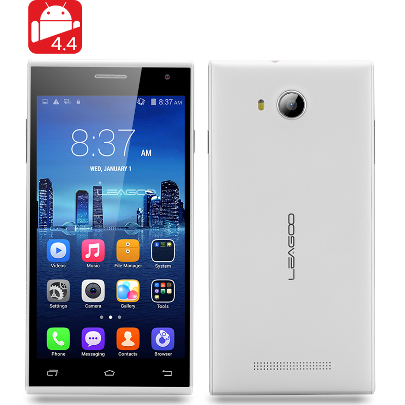 LEAGOO Lead 5 Android 4.4 Smartphone (White)