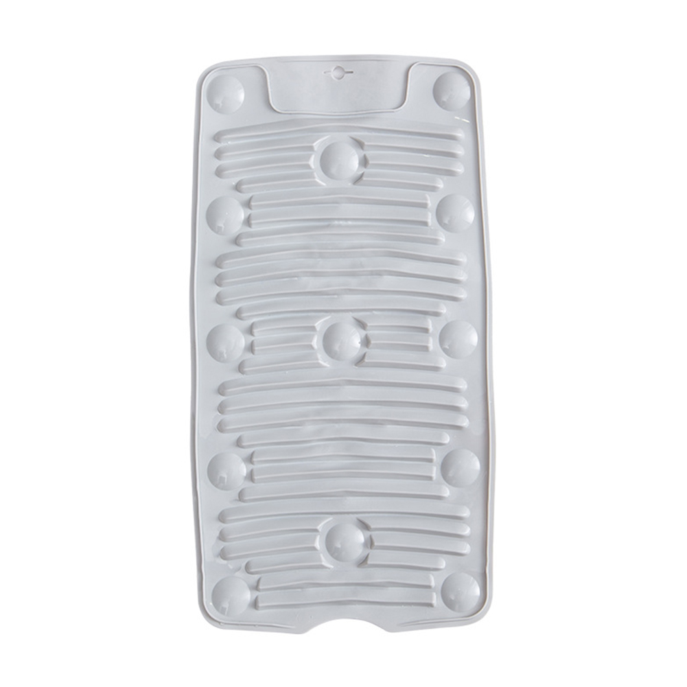 Foldable Drain Non-slip Washboard with Suction Cup for Home Kitchen Accessories Light gray