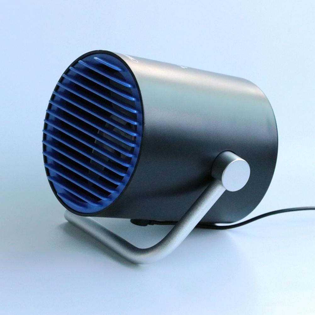 Mini USB Flower Pot Model Office Desk Portable Cute Summer Library Cooling Mute Fan Black blue