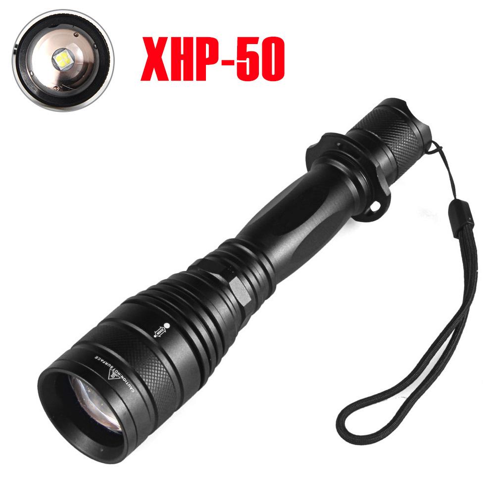 3800 lumens XHP-50 LED Strong Power Zoom Telescopic Lens Flashlight white light