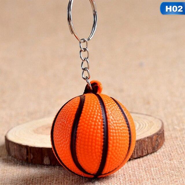 New Fashion Sports Keychain Toy Football Basketball Golf Ball Pendant Keyring For Favorite Sportsman's Gift