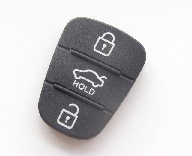 Rubber pad 3 Buttons Flip Car Remote Key