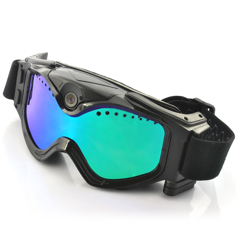 Skiing Goggles w/ Built-In 720p Action Camera