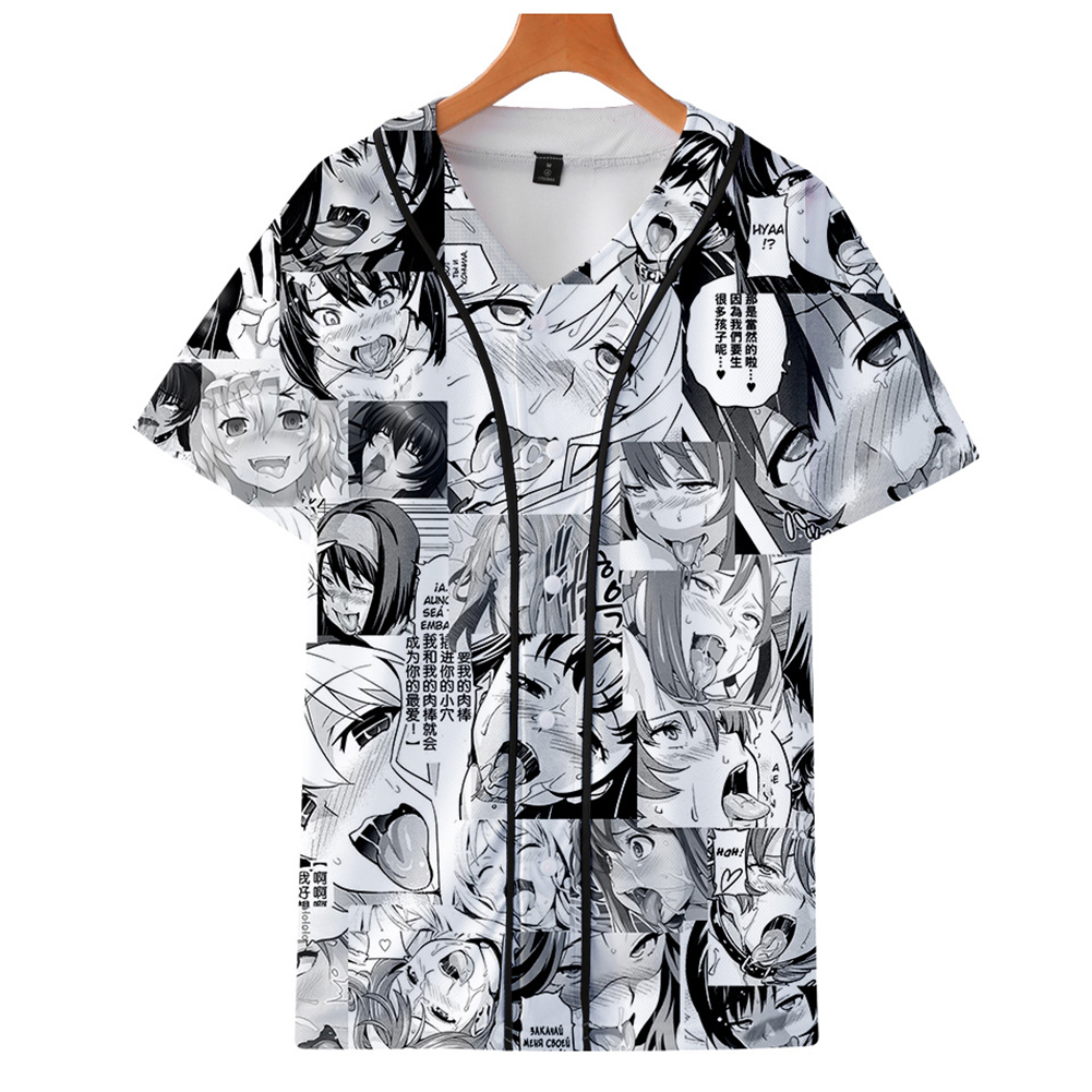 Fashion Women Men Cartoon Funny 3D Print Vivid Casual T-Shirt  E style_XL