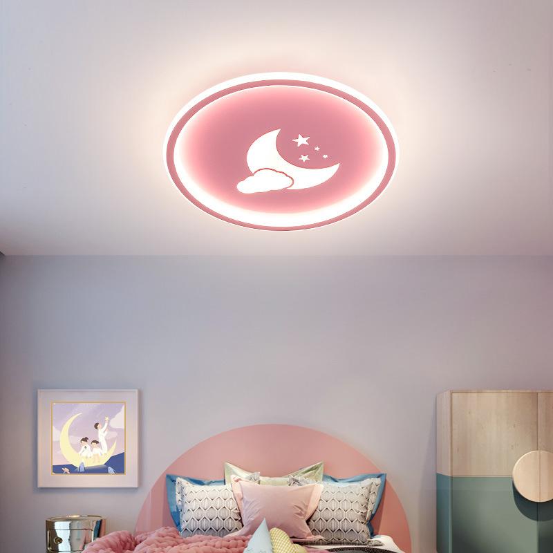 LED Cartoon Cloud Ceiling Lights for Boys Girls Kids Room Bedroom Decor warm light_Pink[40*4.5CM]-36W