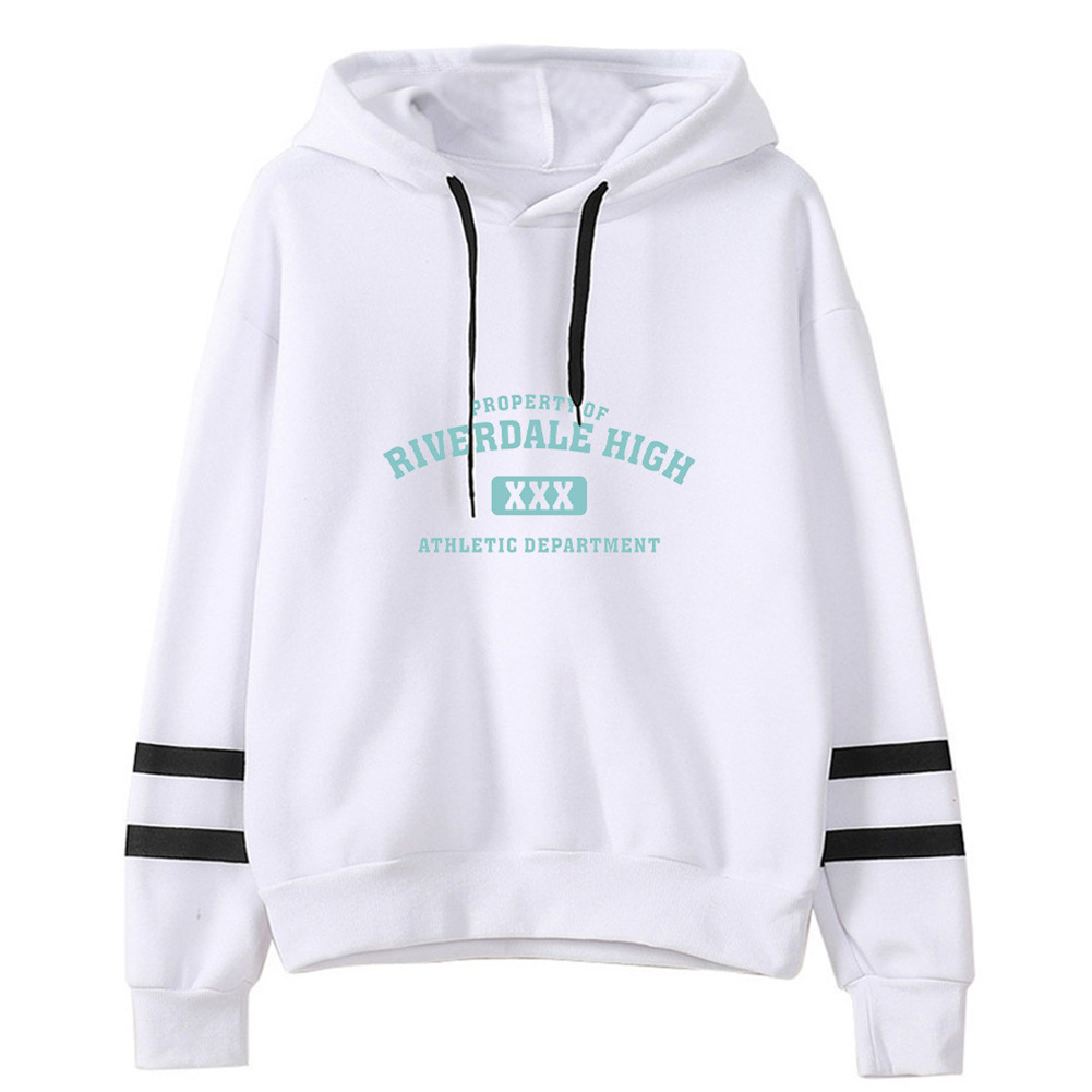 Men Women American Drama Riverdale Fleece Lined Thickening Hooded Sweater White A_XL