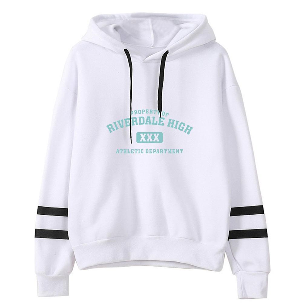 Men Women American Drama Riverdale Fleece Lined Thickening Hooded Sweater White A_XXL