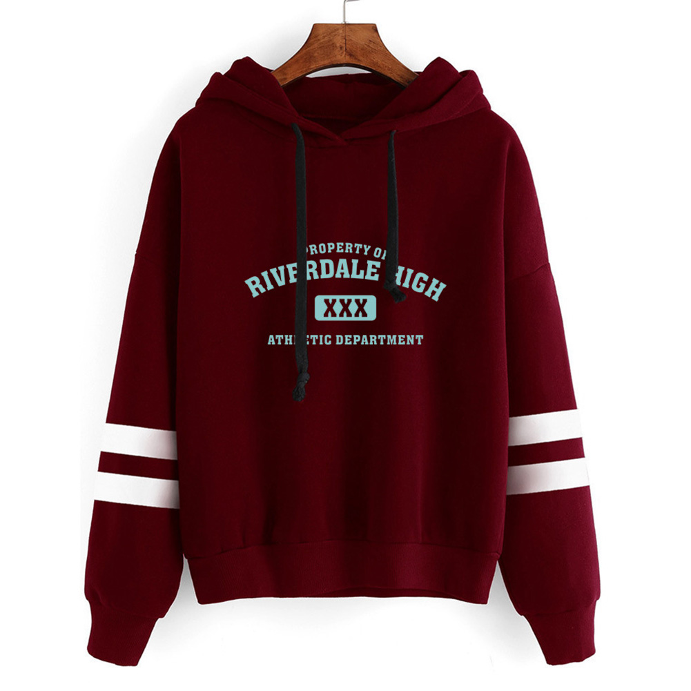 Men Women American Drama Riverdale Fleece Lined Thickening Hooded Sweater Gray A_S