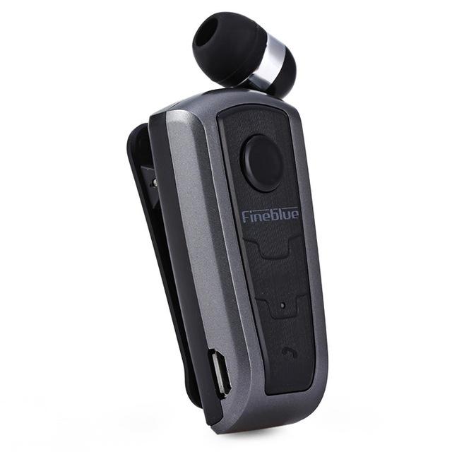 F910 Wireless Bluetooth V4.0 In-Ear Headset Wear Clip Earphone gray