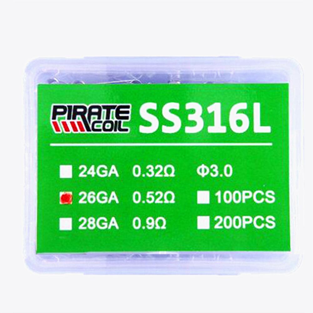 100Pcs DIY Large Smog SS316L Heating Resistance Coil for E Cigarette