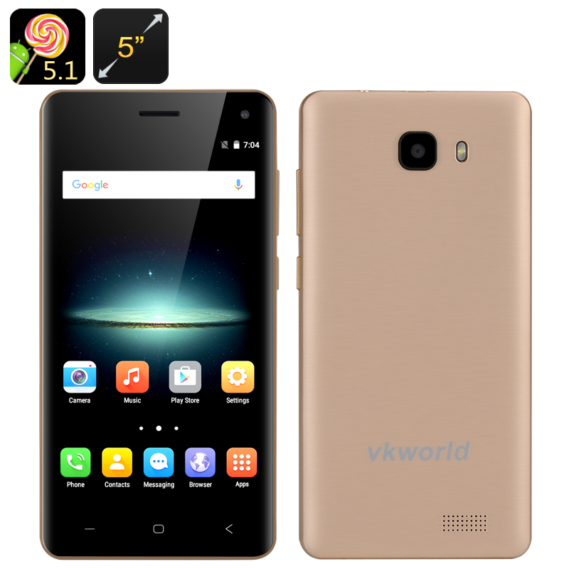 VKWorld T5 Smartphone (Gold)