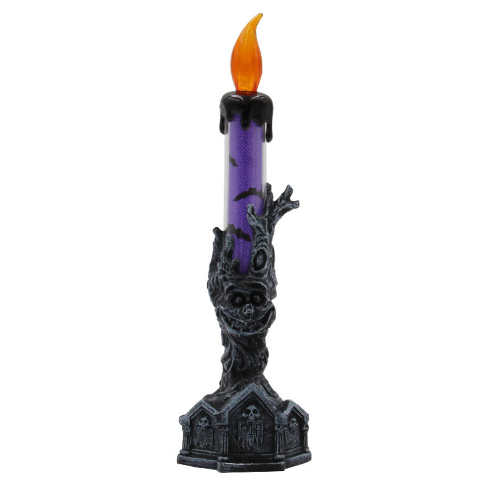 LED Simulate Candle Light for Halloween Decoration Scene Layout Props Purple