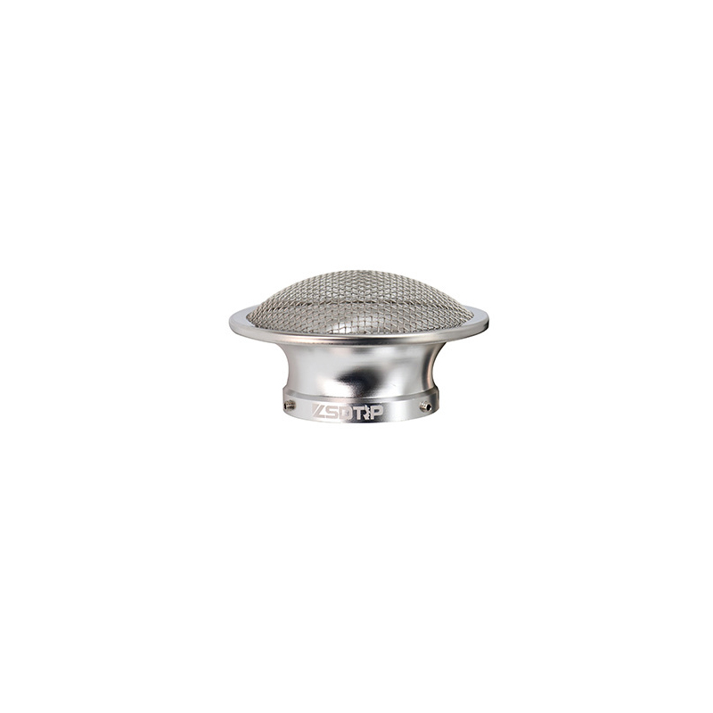 50mm Motorcycle Air Filter Wind Horn Cup Alloy Trumpet with Guaze for PWK28/30mm PE 28/30mm Carburetor 50mm silver