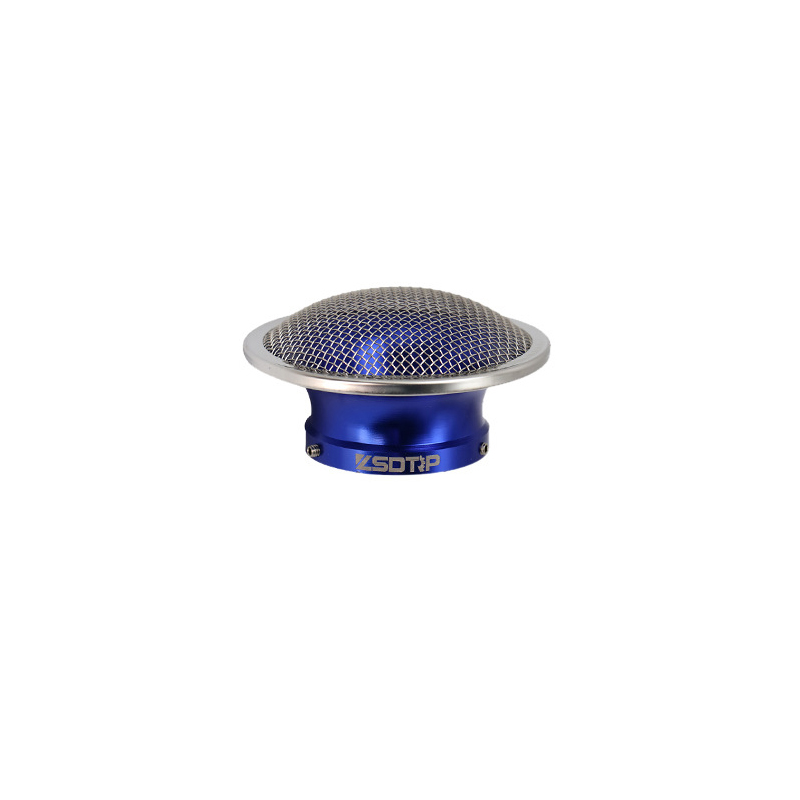 50mm Motorcycle Air Filter Wind Horn Cup Alloy Trumpet with Guaze for PWK28/30mm PE 28/30mm Carburetor 50mm blue