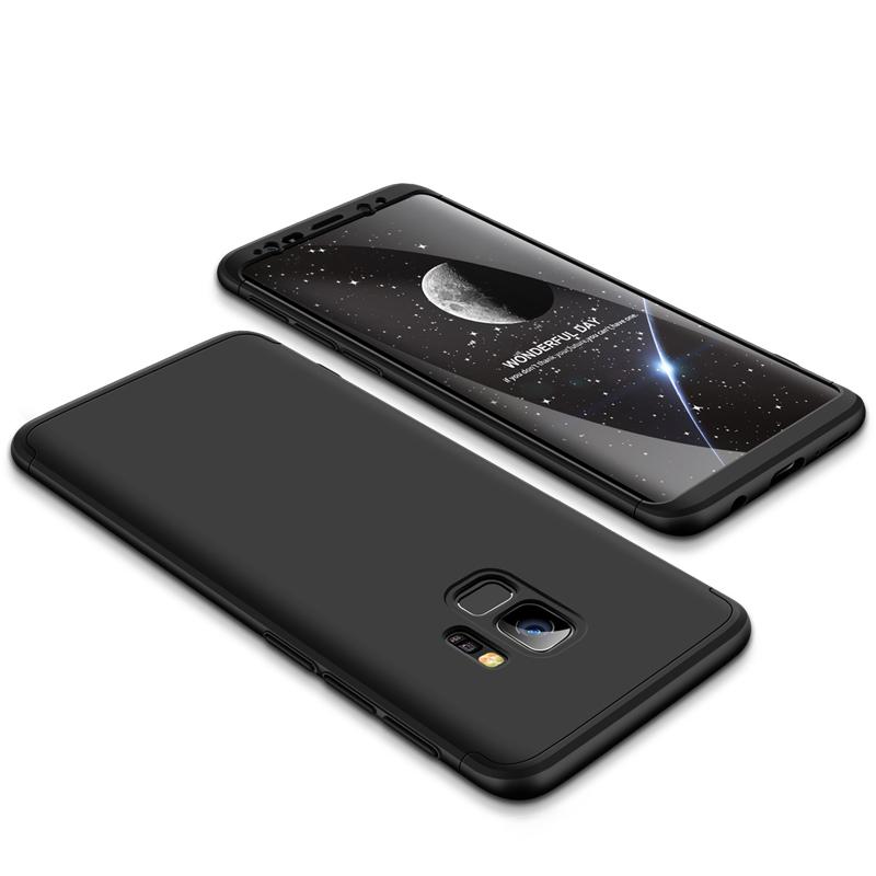 For Samsung S9 3 in 1 360 Degree Non-slip Shockproof Full Protective Case black