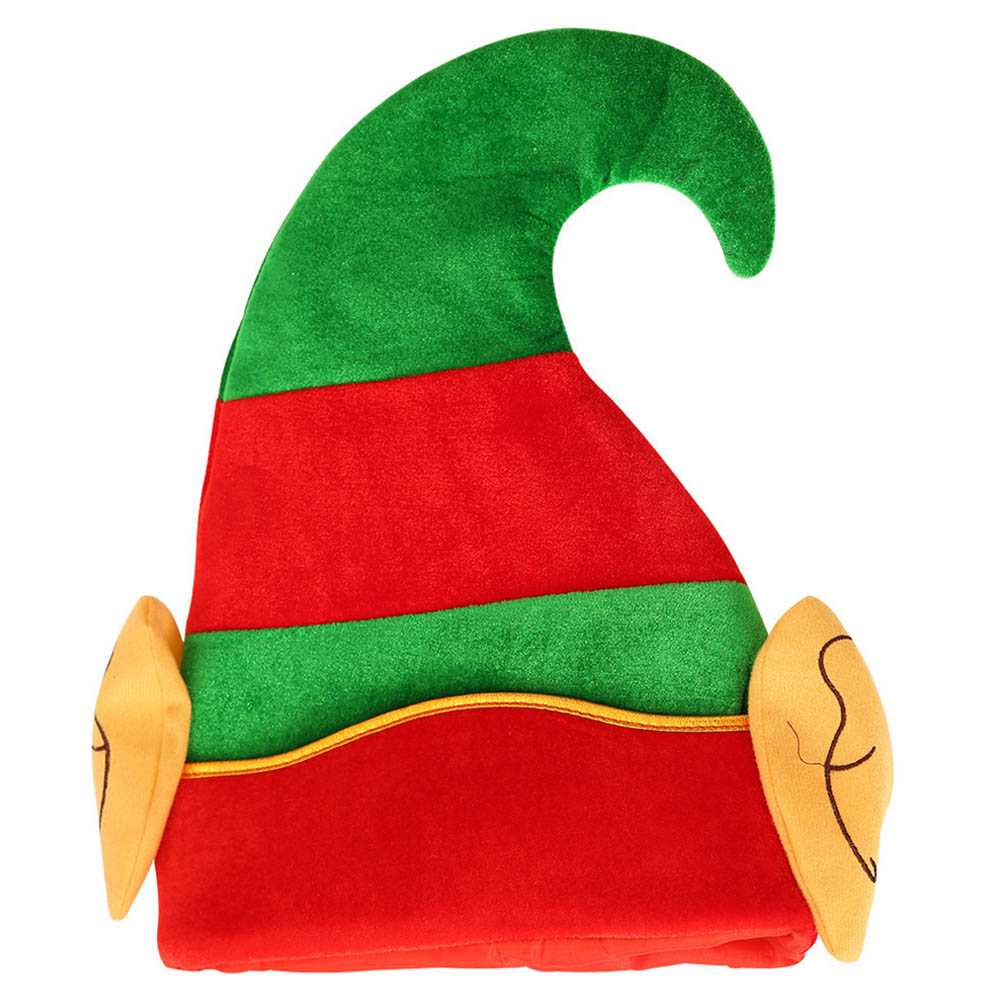 Christmas Decoration Christmas Elf Cap Creative Cartoon Hat Suitable for Children Adult pleuche style