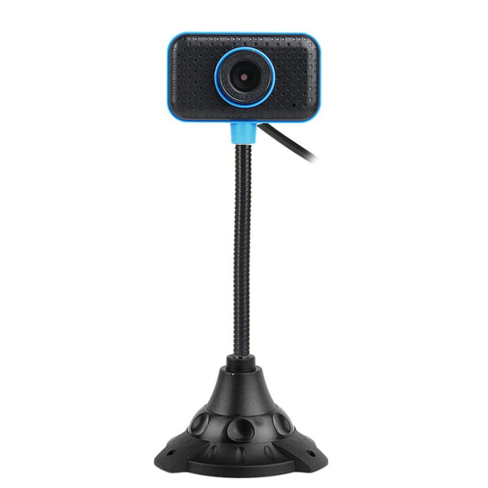 HD Webcam USB 2.0 Rotatable Computer Webcam with Microphone PC Digital HD Video Camera Practical Portable Camera dark blue