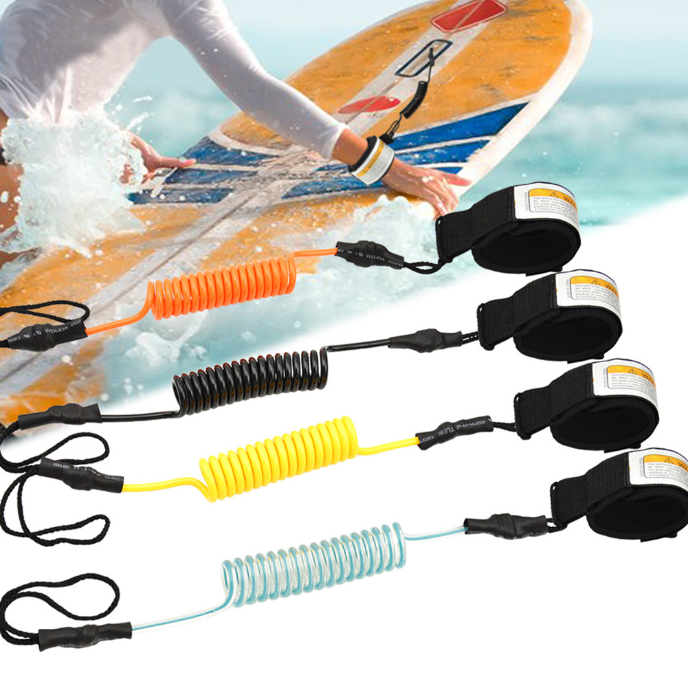 Surfing Kayak Leash Rope Boat Safety Paddle Stand Up Paddle Surfing Safety Hand Rope For Surfboard Surfing Clear Blue