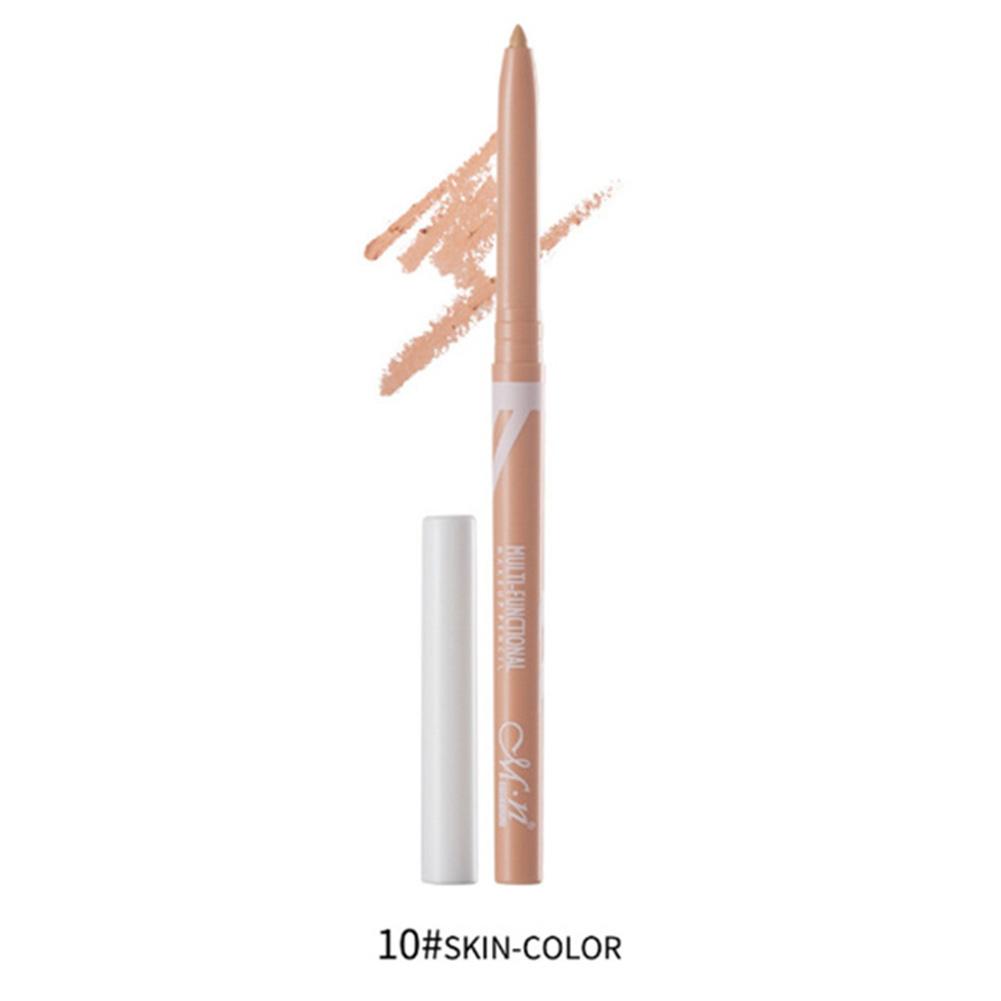 Eyeliner Pencil Eye Makeup Waterproof Lasting  White Eyeliner Eyeshadow Pen Eye Cosmetic Makeup 10 skin tone