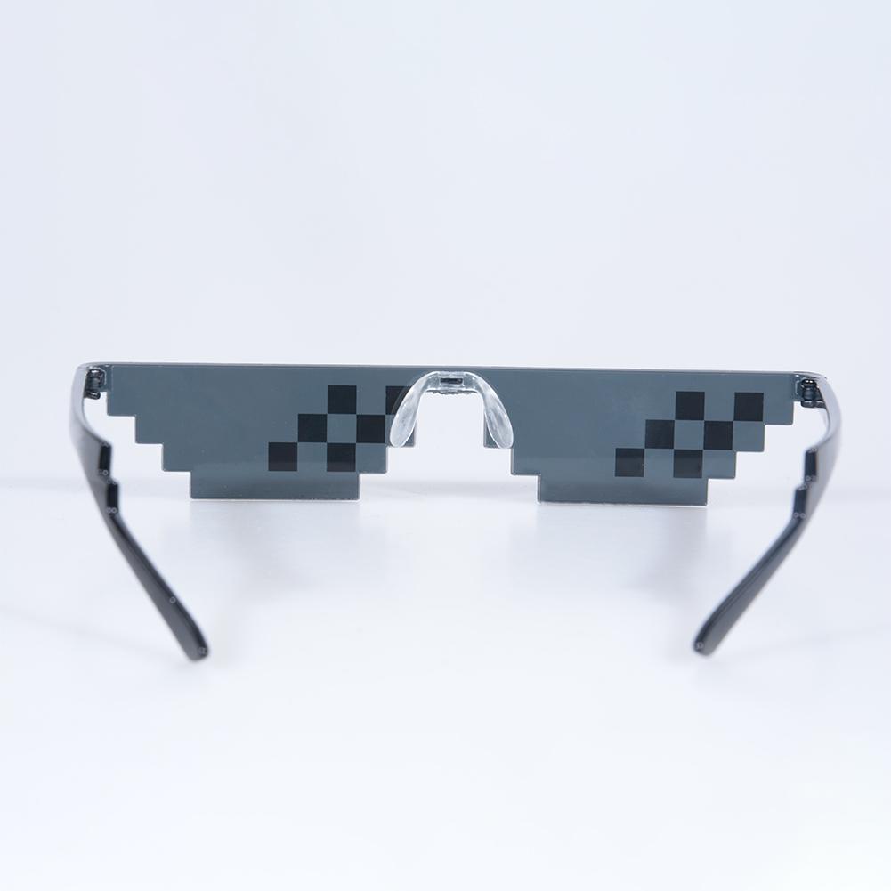 [Indonesia Direct] Men Women Glasses Thug Life 8-Bit MLG Pixelated Sunglasses for Minecraft players