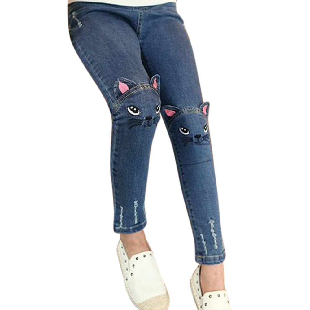 Girl Embroidered Jeans Fashion Trousers