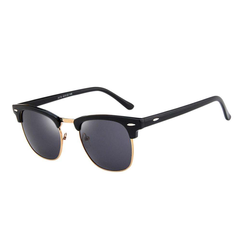 Retro Fashion Half Frame HD Mirror Lens Vintage Sunglasses for Man Woman 3016