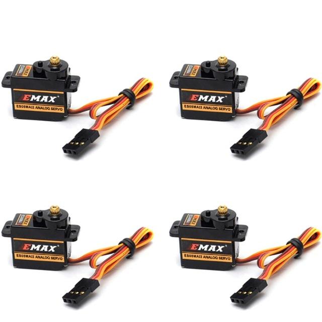 4pcs XEmax ES08MA Analog Metal Micro Servo