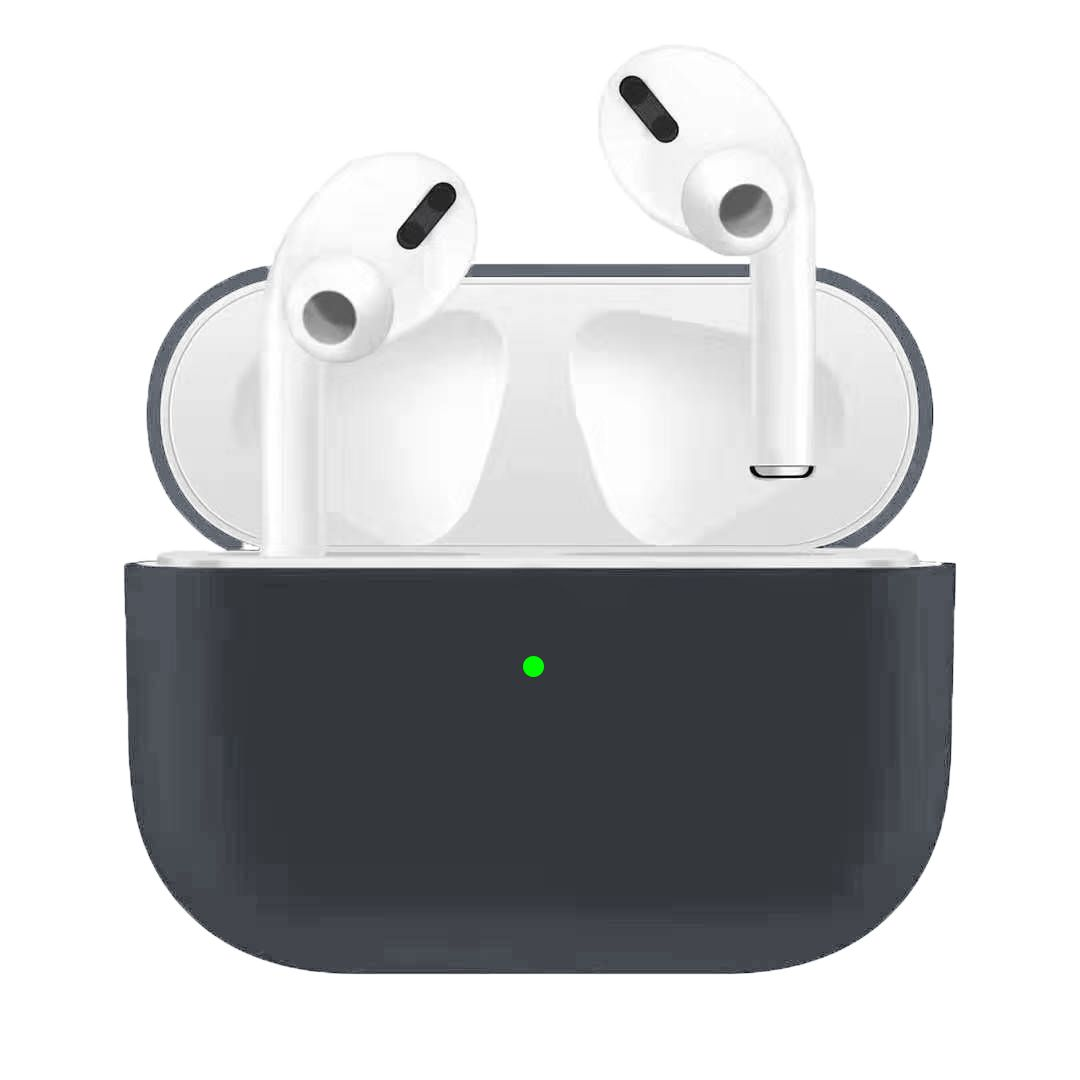 For Airpods Pro Silicone Earphone Case For Airpods Pro Shockproof Cases For Apple Bluetooth Headset Protective Cover Advanced gray