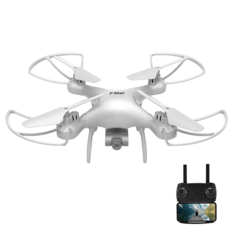 F82 Drone Long Endurance 20 Minutes 4k Dual-camera Real-time Image Transmission Aircraft Fixed Altitude Rc Aircraft White dual camera 4K 2B