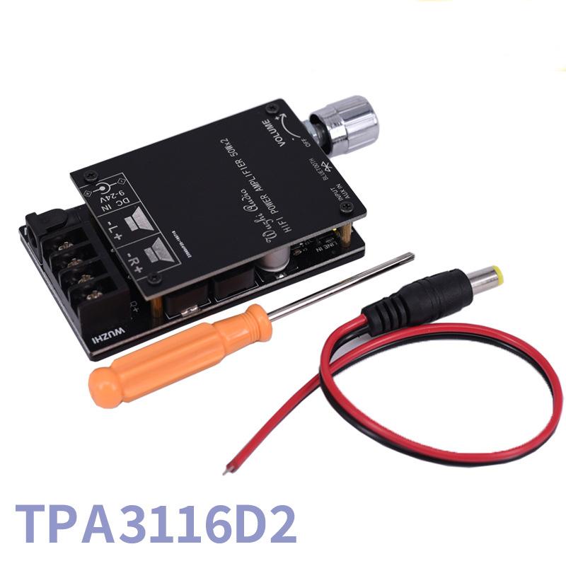 Digital Power Audio Amplifier Board HIFI Wireless Bluetooth 5.0 TPA3116 TPA3116D2 50WX2 Stereo AMP Amplificador Home Theater black