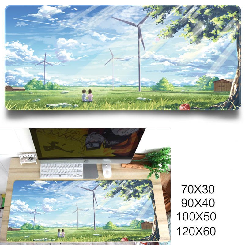 Fashion Cool Pattern Gaming Mouse Pad Protector Desk Pad for Office Home Desk Afternoon sunshine_1200X600X3 mm
