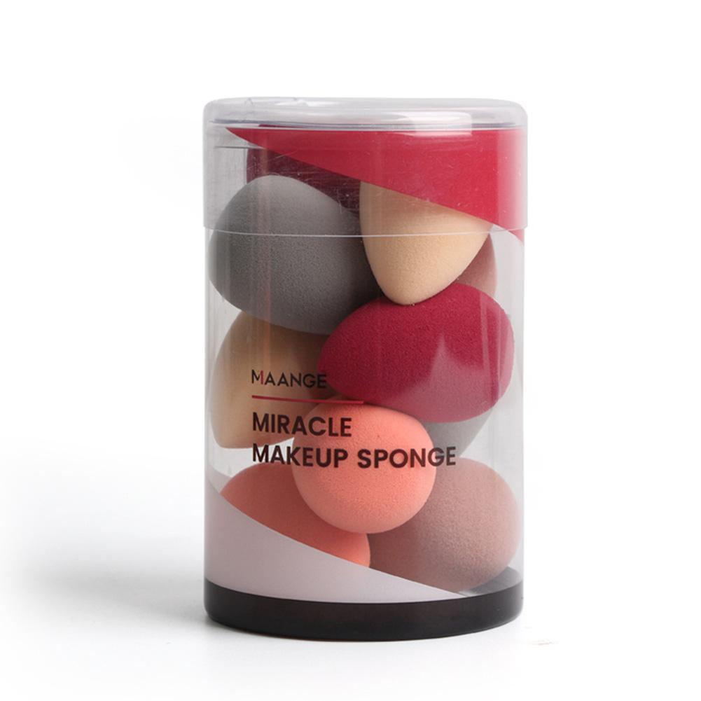 10pcs Powder Puff Latex Wet Dry Dual Use Water-drop Type Soft Dry-wet Dual-use Powder Puff 10 mini puffs