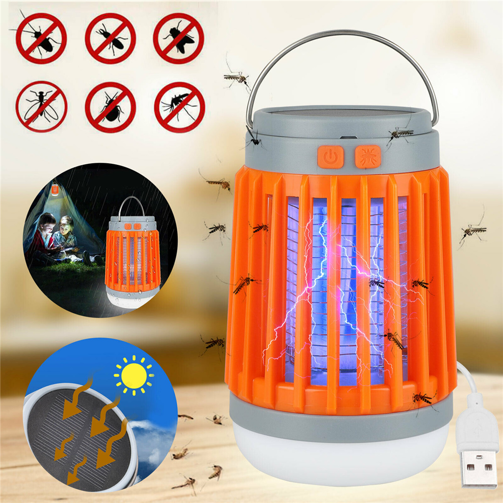 Solar Usb Mosquito  Killer Light Electronic Fly Insect Zapper Trap Portable Insect Repellent Orange