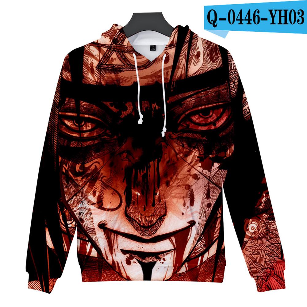 Men Women 3D Naruto Series Digital Printing Loose Hooded Sweatshirt Q-0446-YH03 E_XXL