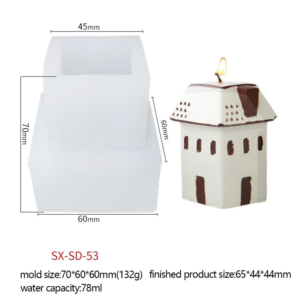 Christmas  Series  Candle  Silicone  Mold Diy Creative Christmas Tree Santa Claus Aroma Candle Mould Igloo 3 SD-53