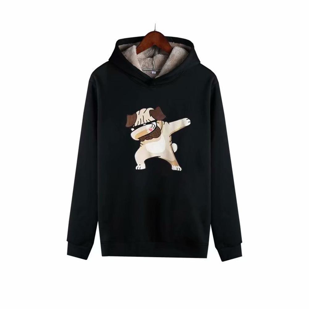 Men Autumn Winter Pullover Hooded Sweater Loose Long Sleeve Fleece Line Tops Hoodie 3#_L