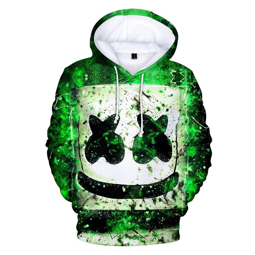 Unisex Fashion DJ Marshmello 3D Pattern Long Sleeve Hoodies Sweater Section A_XXL