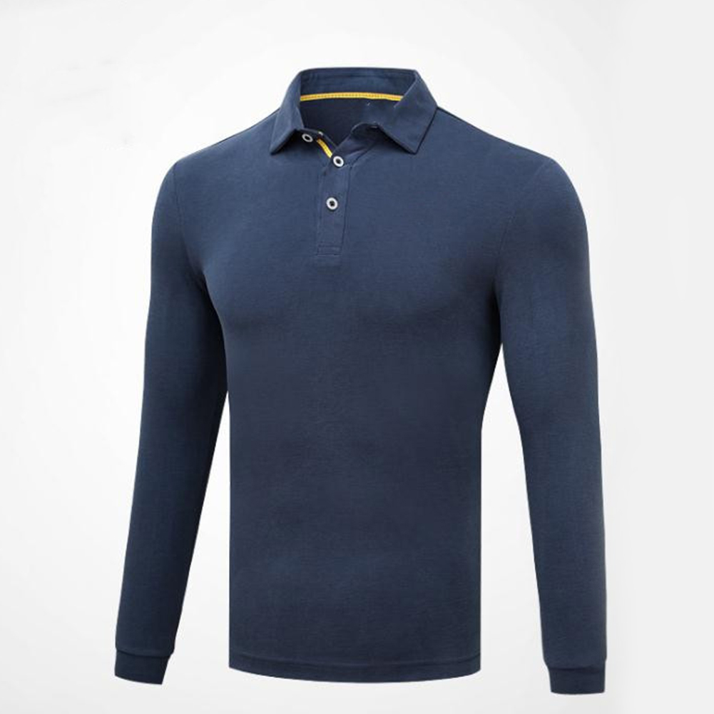 Golf Clothes Male Long Sleeve T-shirt Autumn Winter Clothes for Men YF148 royal blue_L