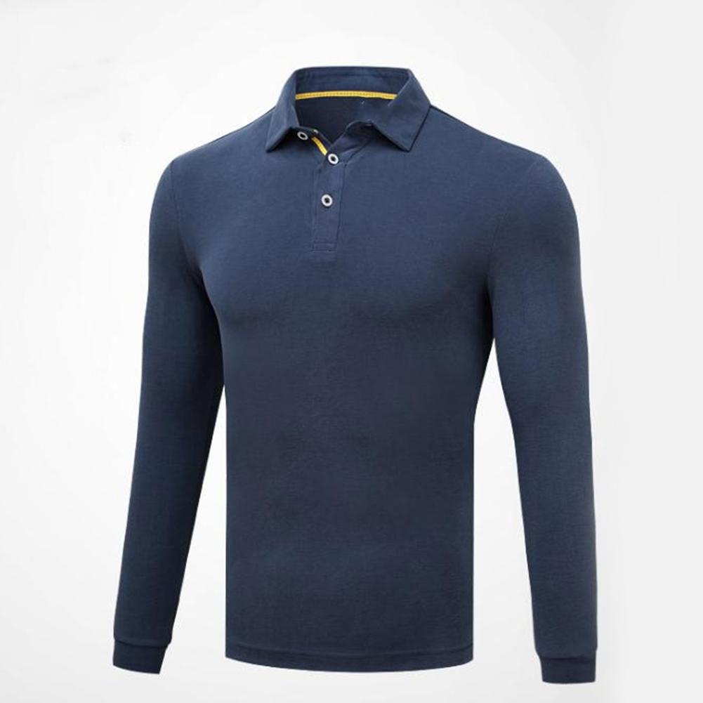Golf Clothes Male Long Sleeve T-shirt Autumn Winter Clothes for Men YF148 royal blue_M