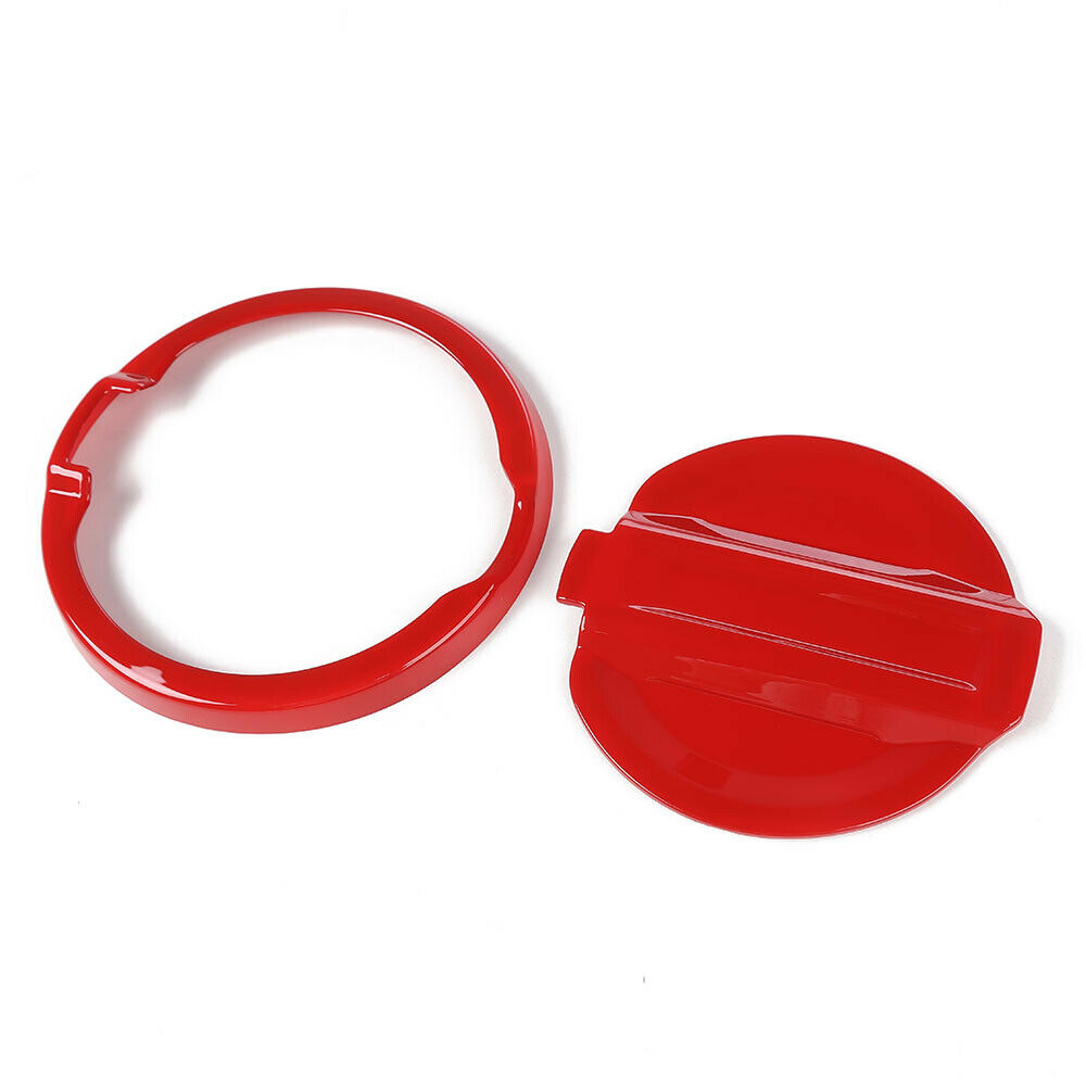 Red Door Fuel Tank  Gas  Cap  Cover Trim For Jeep Wrangler JL 2018+ Accessories Red