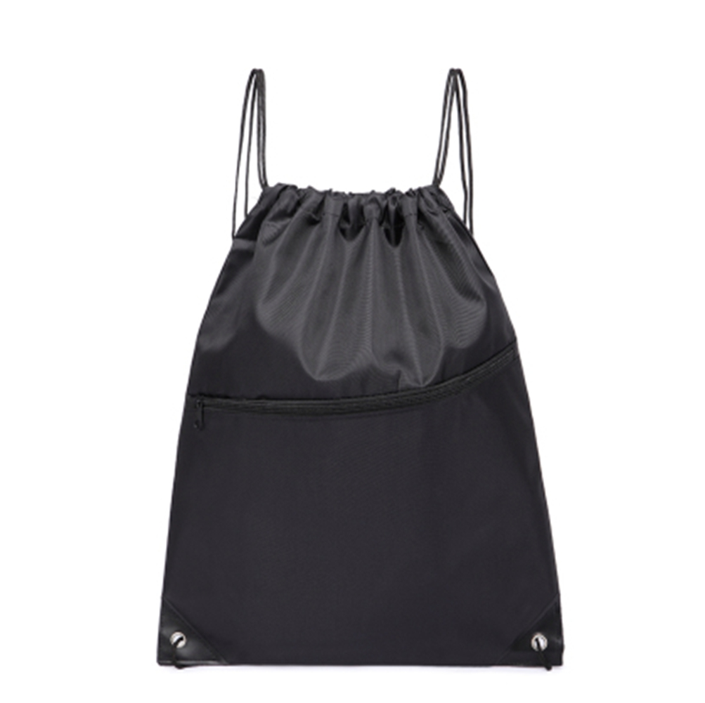 [EU Direct] Adeeing Outdoor Sports Polyester Drawstring Backpack Bag black