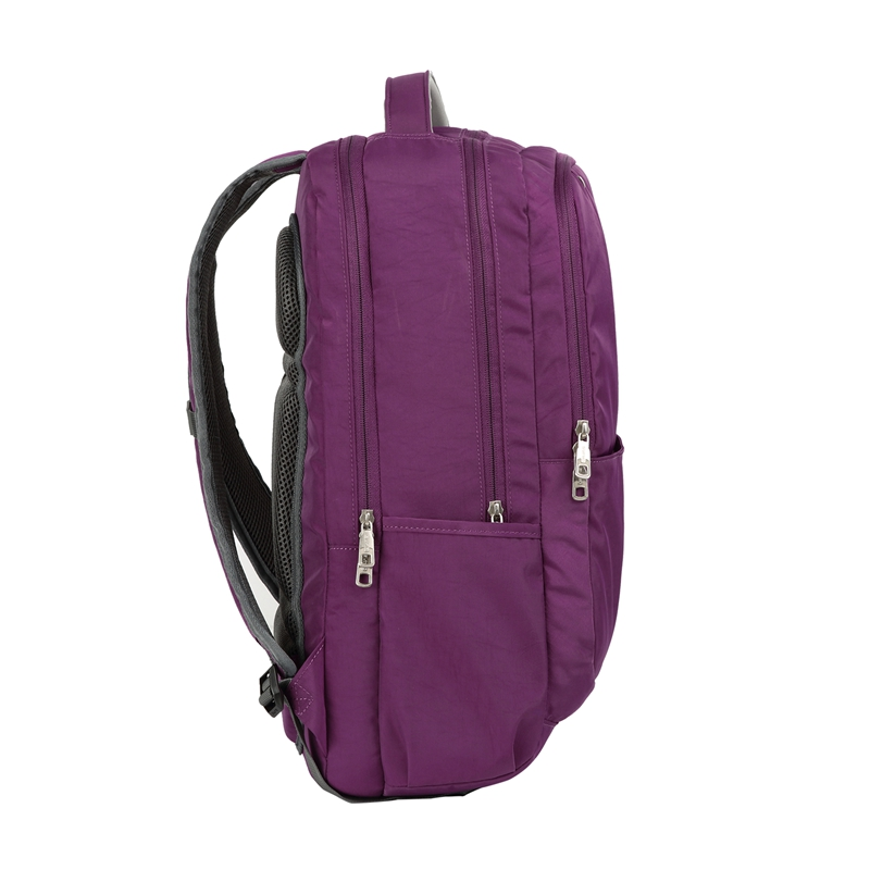 [US Direct] Original OIWAS Nylon Business Backpack with Large Full Separate Mult-Compartment for 17-inch Laptop Notebook (Black) Purple