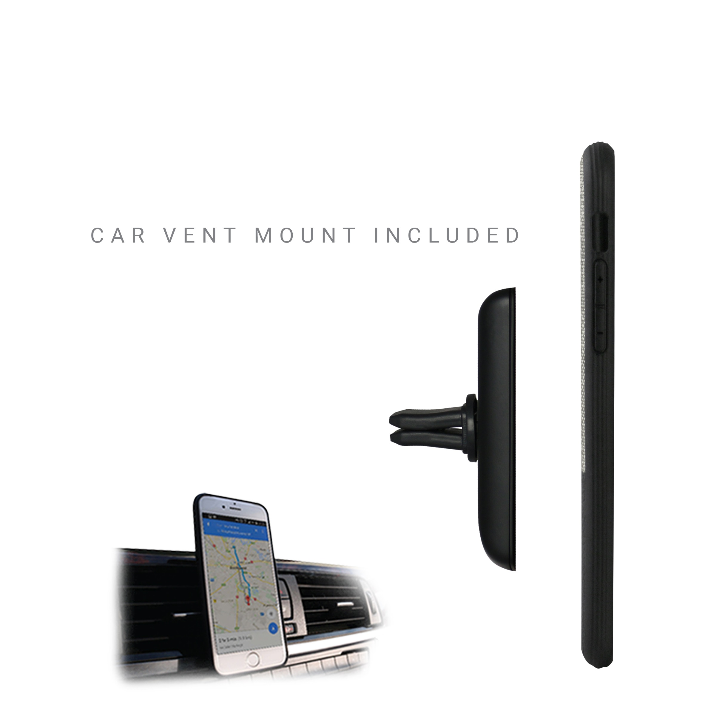 [US Direct] Evutec Case iPhone 11 case Northill, Canvas/Black with AFIX (with car vent mount) Canvas/Black