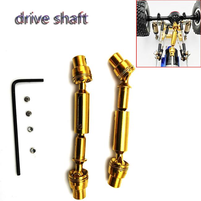 Transmission Drive Shaft For WPL B1 B16 B24 B36 C1 C24 C34 JJRC Q60 Q61 Q65 MN 90 RC Car Parts Gold  Gold