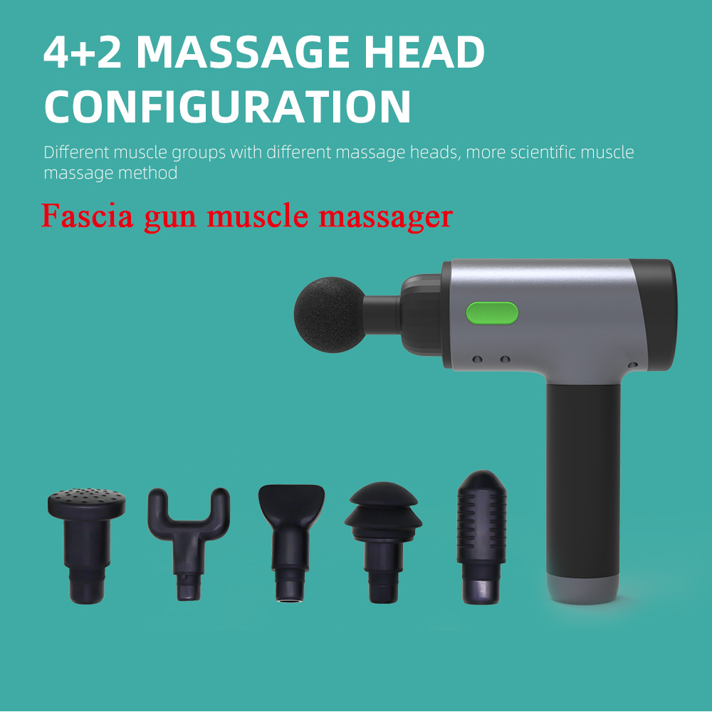Handheld Neck Back Massager Smart Home Massaging Machine Relief Fascia Muscle Pain Body Relaxation Fitness Management gray