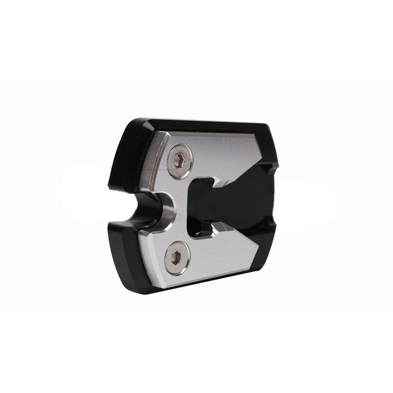 For Yamaha Nmax155 N-Max 155 Black CNC Sidestand Foot Plate Kickstand Pad  silver