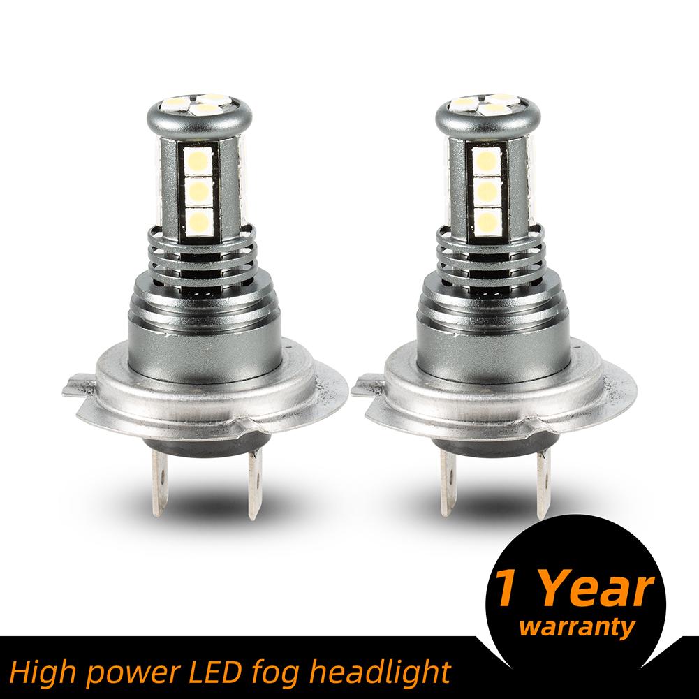 1 Pair Aluminum Car Led High-brightness Fog Lamp Headlights Waterproof Fog Lights H7