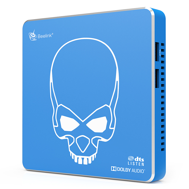 Beelink GT-King Pro TV BOX 4GB+64GB Mail-G31 MP2 Amlogic S922X Quad-coreHiFi Loss Less Sound blue_UK Plug